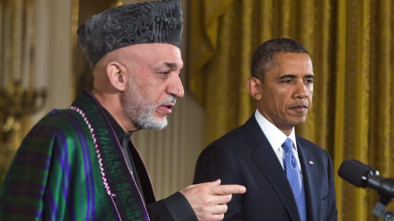 Obama, Karsai, Washington, Afghanistan