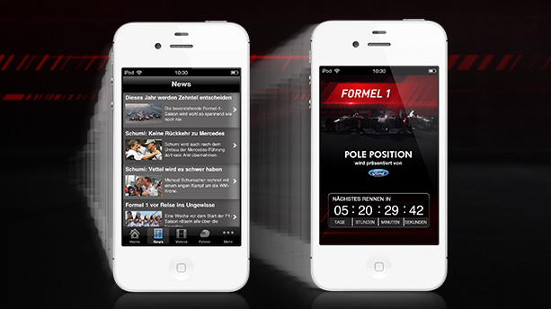 RTL Pole Position: Formel-1-Guide für Ihr iPhone!