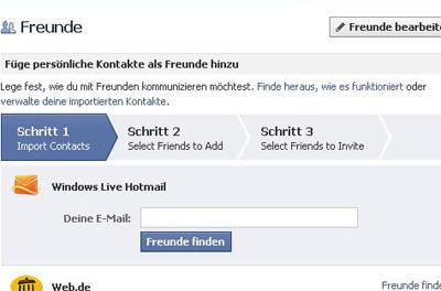 auf facebook anmelden