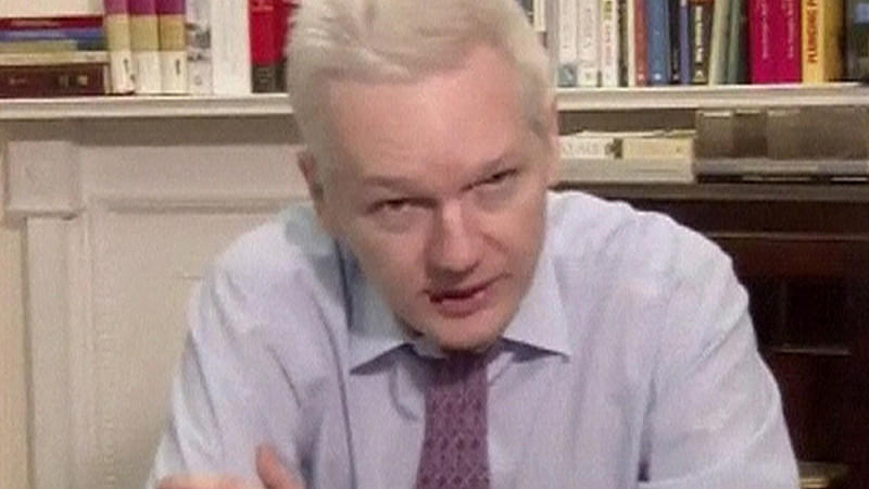 Julian Assange, Video-Botschaft