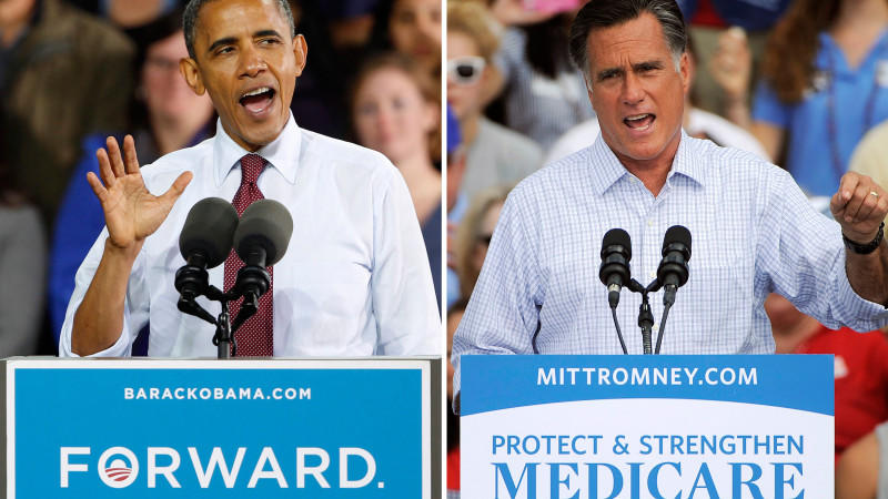 US-Wahl, TV-Debatte, Obama, Romney