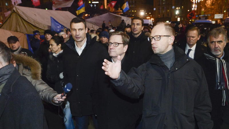 Westerwelle besucht Demonstranten in Kiew