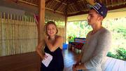 Juna Manaj und Leon Heidrich proben fürs Duett