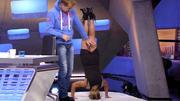 Michelle zeigt den Kollegen, was sie kann