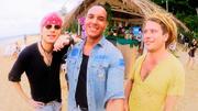 Ruben, Attila und Thomas wollen den Strand rocken