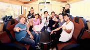 Super Stimmung im DSDS-Tourbus