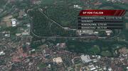 Italien-GP im Birdview: Lange Geraden laden zum Überholen ein
