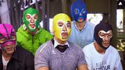 """Die """"Mask Performers"""" stehen auf schräge Unterhaltung"""