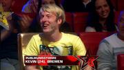 Kevin wird zur Stimme des Publikums