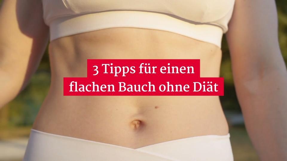 3 Tipps für einen flachen Bauch ohne Diät