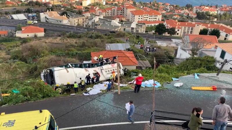 Deutsche sterben bei Busunglück auf Madeira
