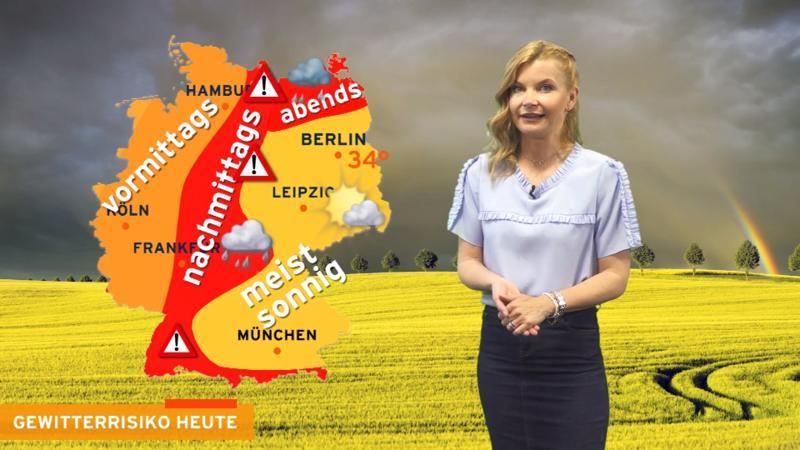 Blitzintensive Gewitter mit Starkregen Hagel und SturmböenAlarmstufe Violett! Neue Unwetter unterwegs