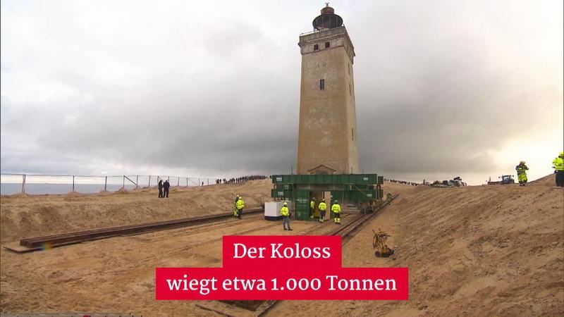 Dänemark: Leuchtturm zieht um - er drohte ins Meer zu stürzen
