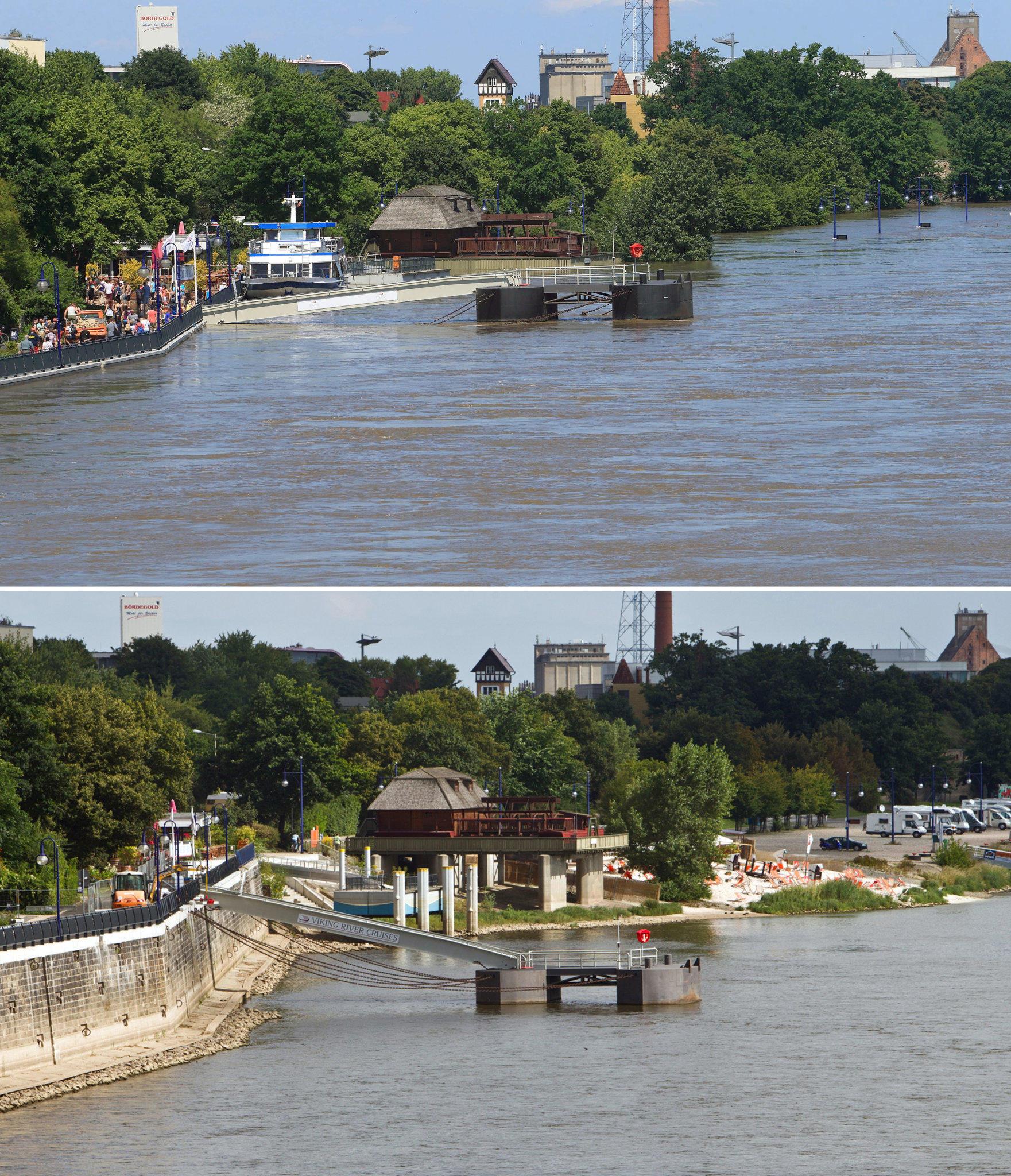 Der Vorher Nachher Vergleich Die Folgen des Hochwassers in Bildern
