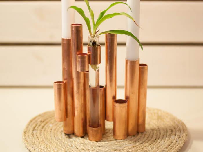 Kerzenständer aus kupfer: anleitung für das coole wohnaccessoire