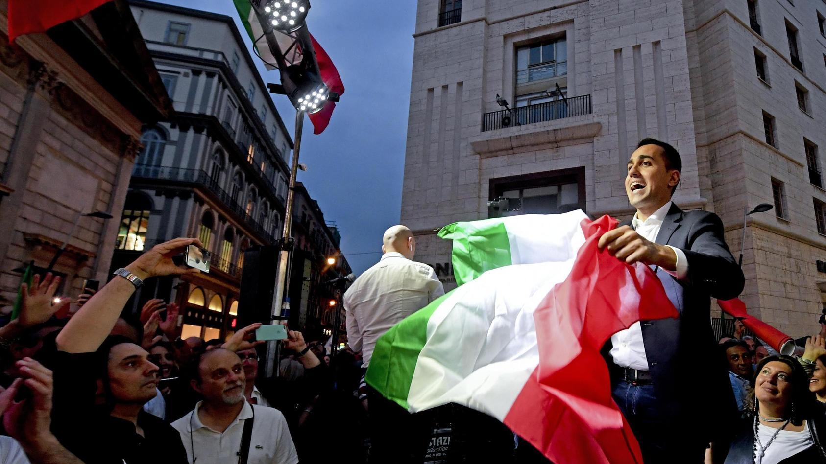 Luigi Di Maio, Chef der Fünf-Sterne-Bewegung hätte gerne Neuwahlen so schnell wie möglich.