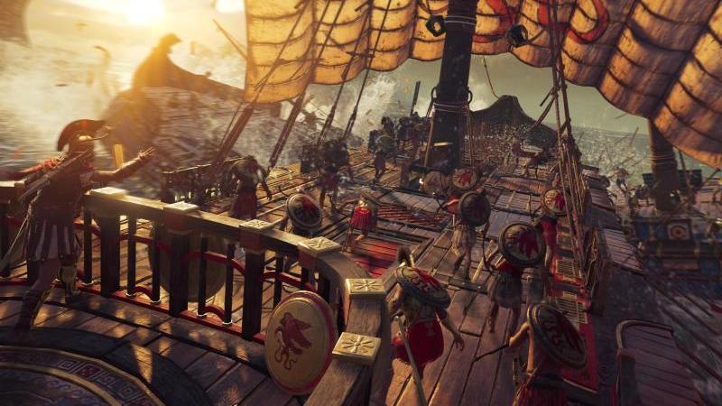 """""""Assassin's Creed Odyssey"""" spielt im antiken Griechenland und bietet auch wieder Seeschlachten als Spielelement. Foto: Ubisoft/dpa-tmn"""