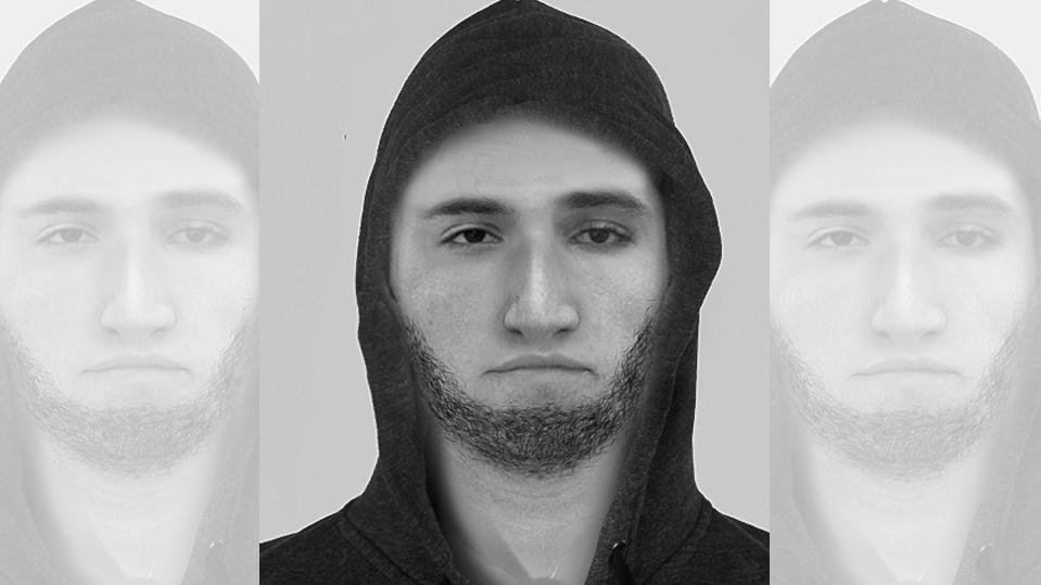 Nach einer Vergewaltigung in Geldern bei Kleve (NRW) sucht die Polizei mit diesem Phantombild nach dem Täter.