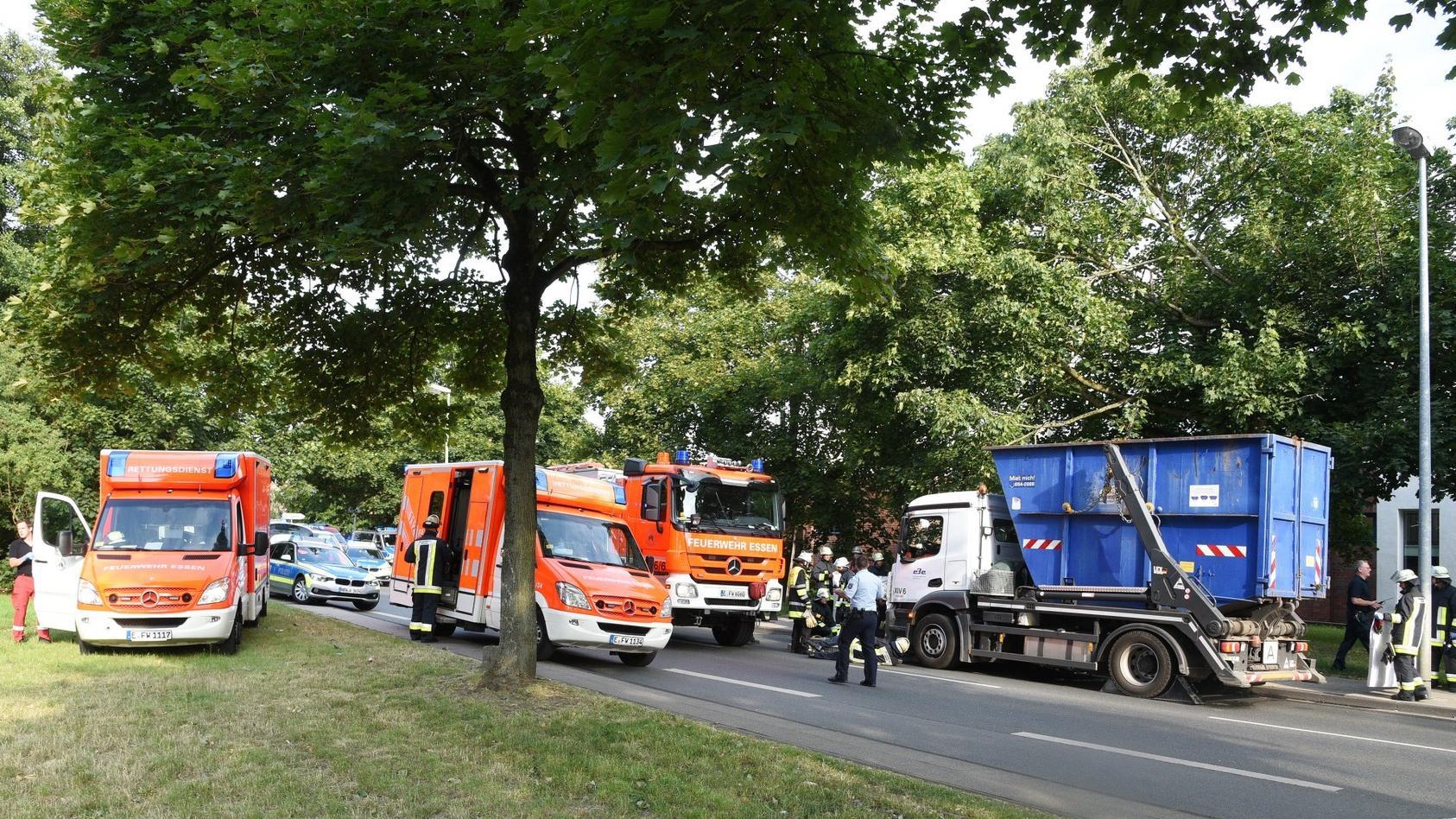Die Unfallstelle in Essen (Foto: KDF-TV & Picture 2018).