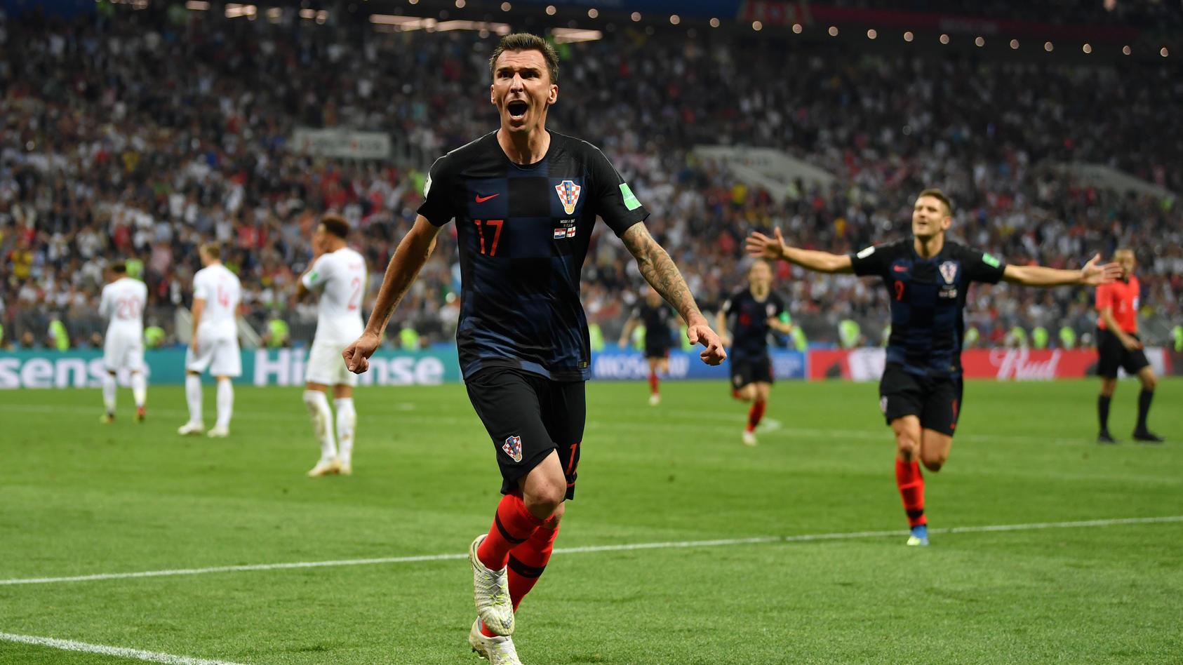 Mario Mandzukic ließ Kroatien in Moskau jubeln - und Englands Traum zerplatzen.