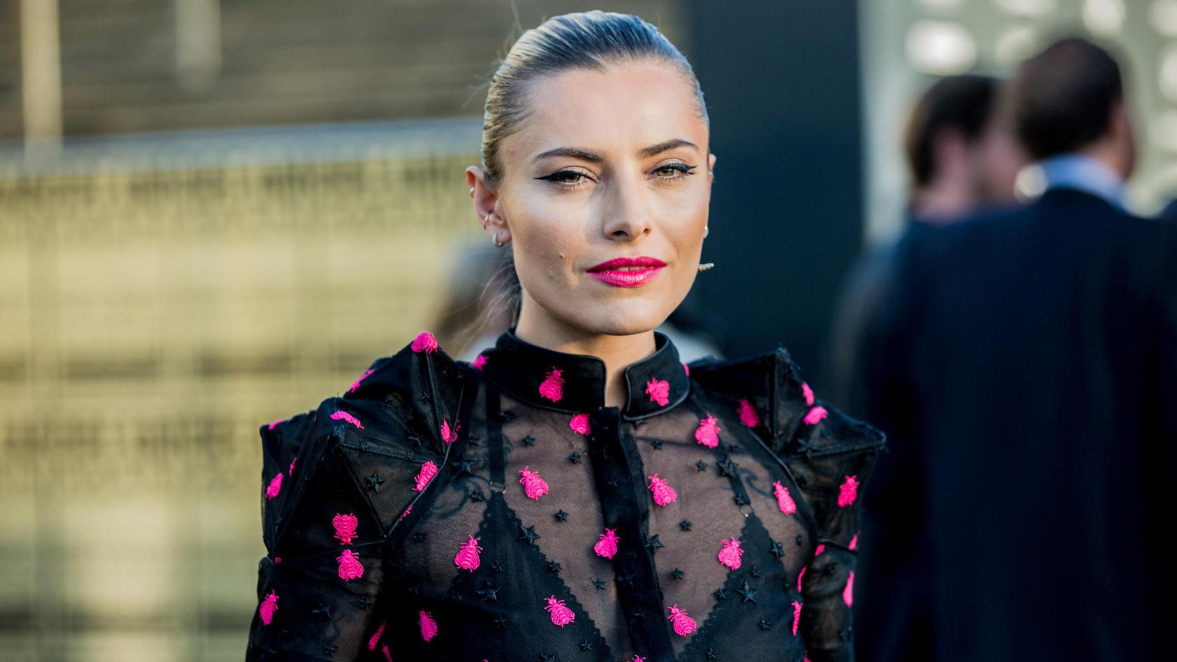 Sophia Thomalla auf der Berliner Fashion Week 2018.