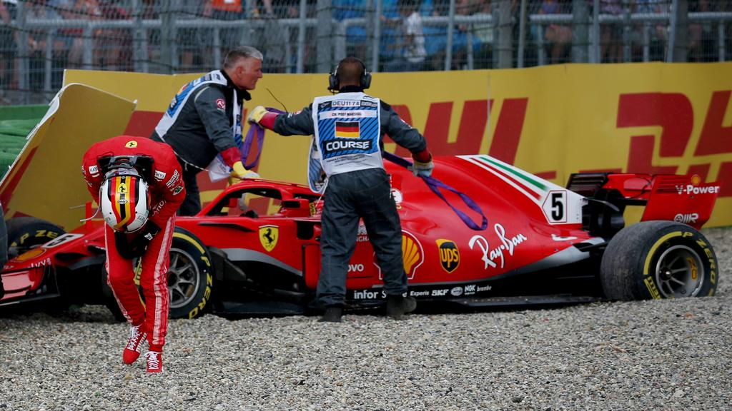 Motorsports: FIA Formula One World Championship WM Weltmeisterschaft 2018, Grand Prix of Germany, 5 Sebastian Vettel (GER, Scuderia Ferrari), Hockenheim Germany