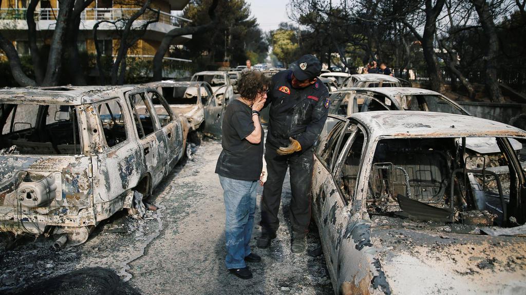Die Folgen der Brände nahe Athen sind verheerend.