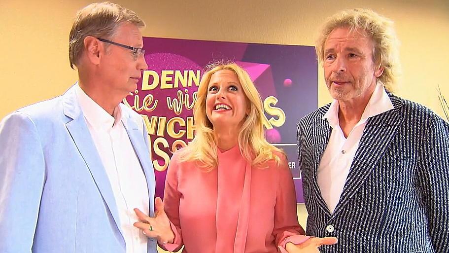 In dieser Show müssen Günther Jauch, Barbara Schöneberger und Thomas Gottschalk ihre Spontaneität unter Beweis stellen.