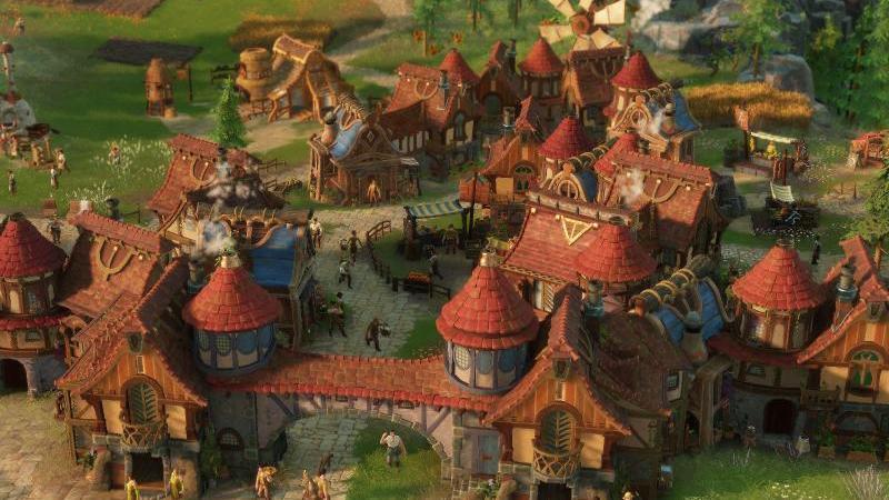 """Ein Dorf wächst - das ist auch im neuen Teil von """"Die Siedler"""" das Spielprinzip. Foto: Ubisoft"""