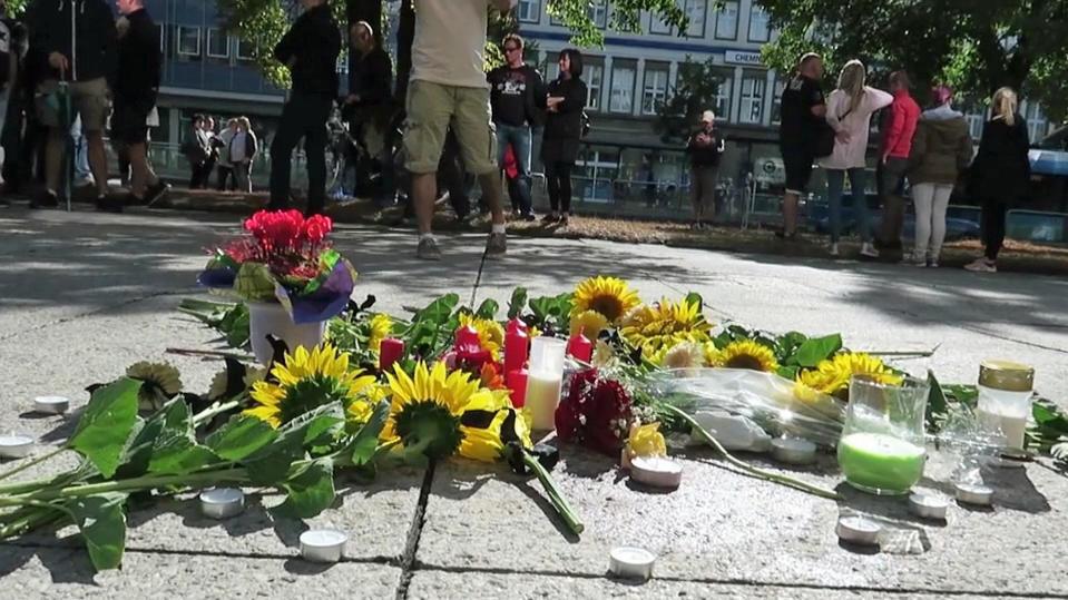 Gedenken an das verstorbene Opfer in Chemnitz.