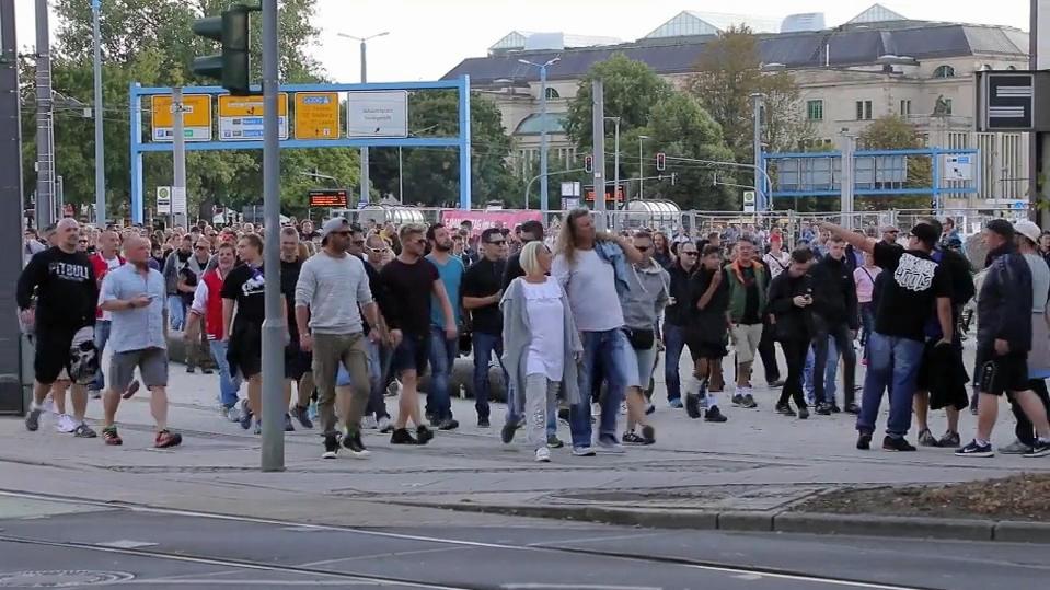 Demonstration in Chemnitz.