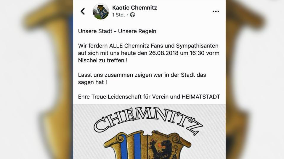 Aufruf von Fußball-Ultras, der später aus den sozialen Medien wieder gelöscht wurde.