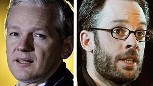 Früher waren sie Freunde, jetzt reden sie über Anwälte miteinander: Julien Assange und sein früherer Wikileaks-Sprecher Daniel Domscheit-Berg.