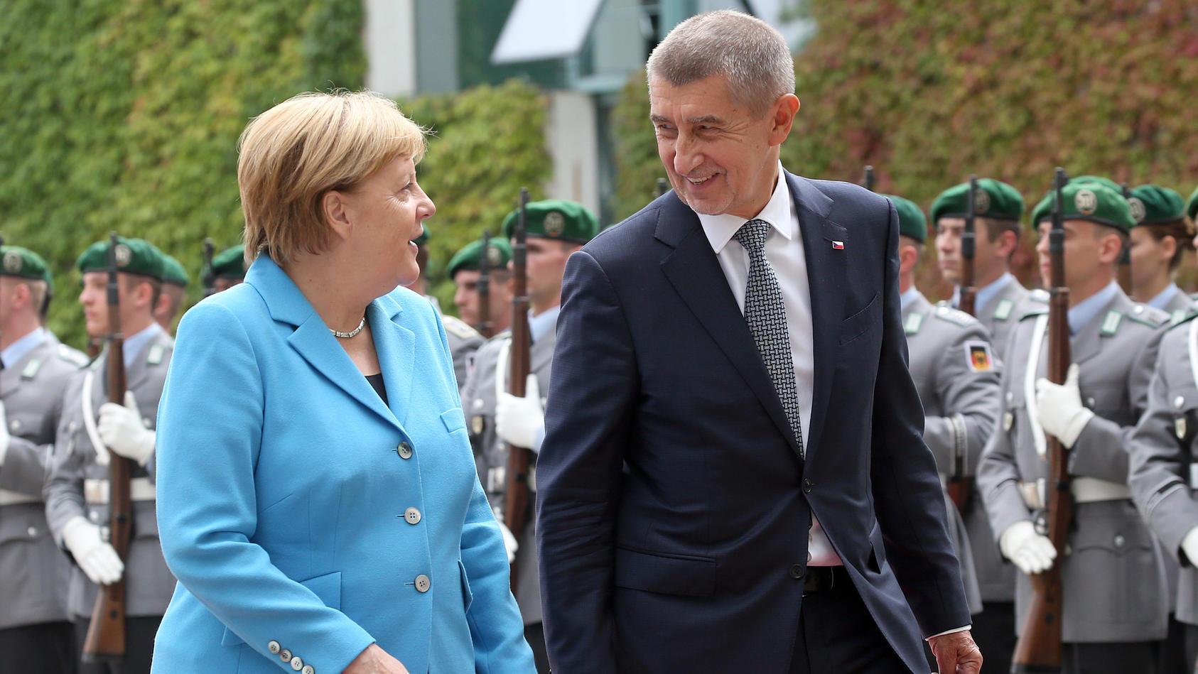 Der tschechische Premierminister Andrej Babis besucht Bundeskanzlerin Angela Merkel in Berlin.