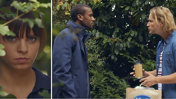 AWZ: Michelle beobachtet Mo und Finn zusammen im Park.