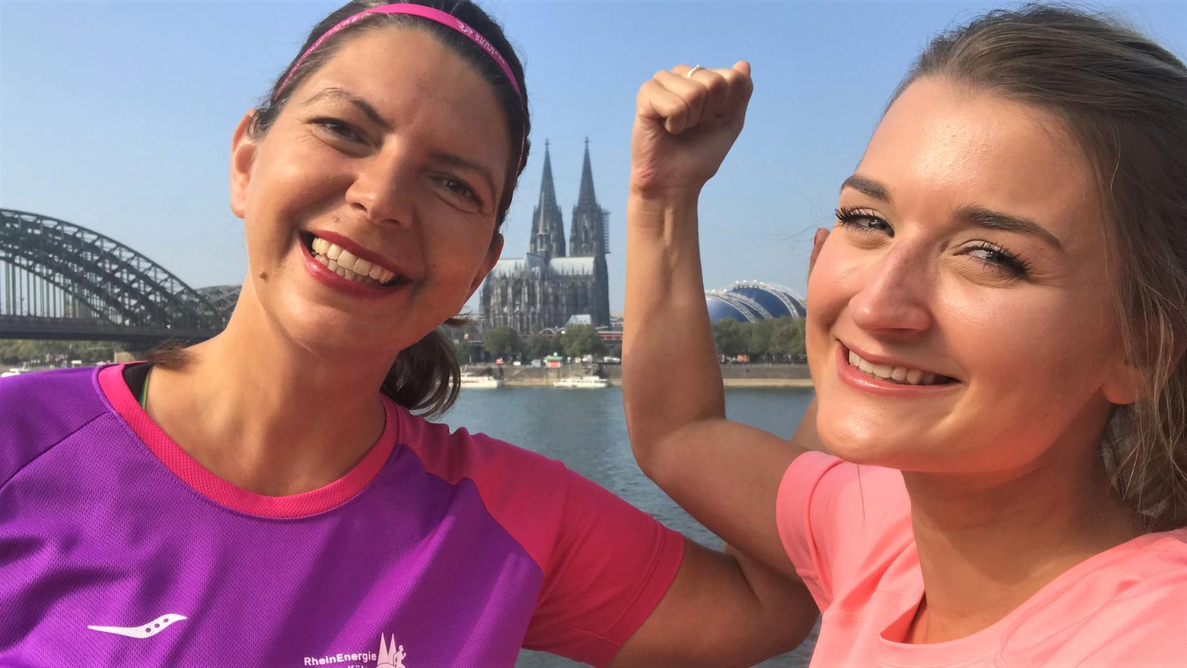 Dany und Romina wollen den Halbmarathon 2018 in Köln laufen.