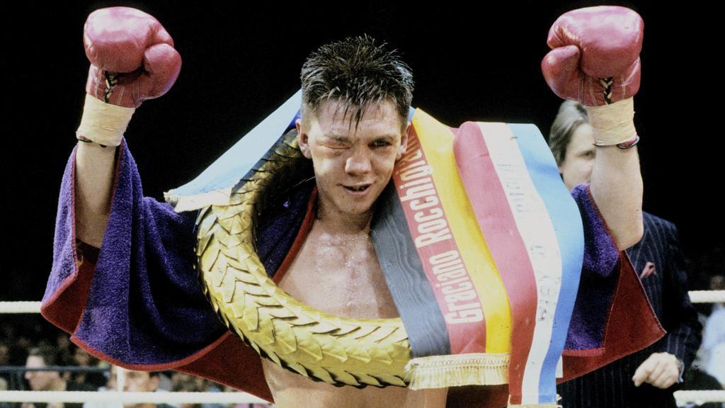 K.o. in der 9. Runde: 1991 schickte Graciano Rocchigiani seinen Gegner Alex Blanchard trotz zugeschwollenem Auge auf die Bretter und wurde Europameister