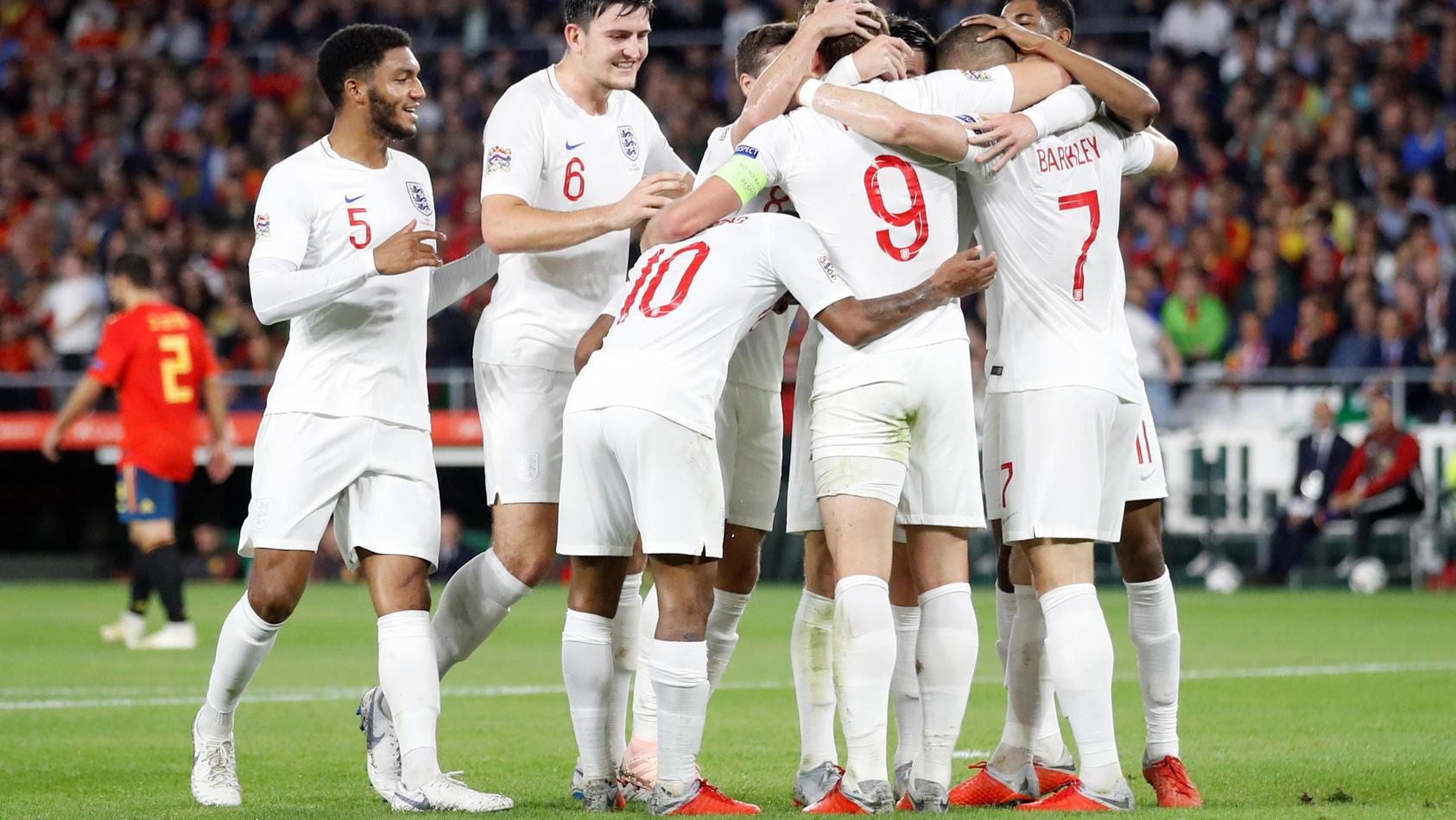 Starkes Team: Die Engländer überraschten Favorit Spanien mit einer geschlossenen Mannschaftsleistung
