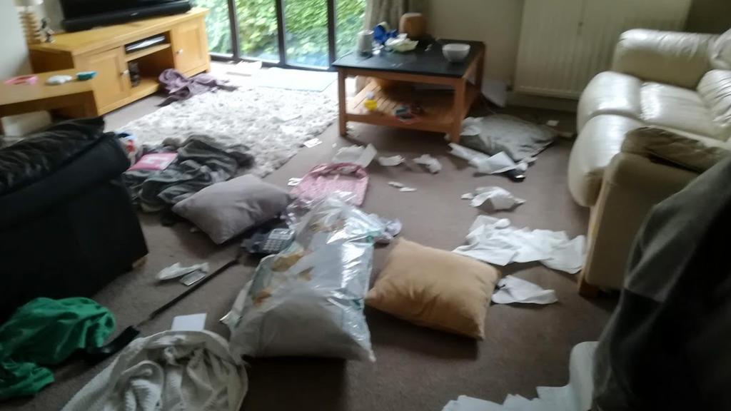 William Hewlett verwüstete das Wohnzimmer