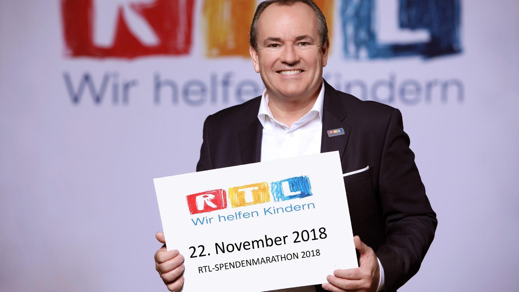 Bereits zum 23. Mal wird Wolfram Kons den 24-stündigen RTL-Spendenmarathon starten und die RTL-Zuschauer zu Spenden aufrufen.