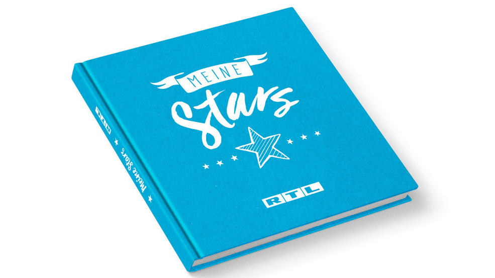 """Das """"RTL Stars""""-Freundebuch wurde extra für den RTL-Spendenmarathon angefertigt."""