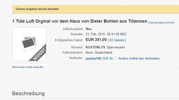Luft von Bohlens Anwesen: Vor drei Jahren ersteigerbar!