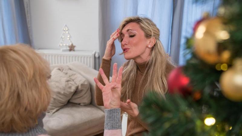 Frust statt Frieden: In vielen Familien knallt es ausgerechnet anWeihnachten heftig. Foto:Christin Klose
