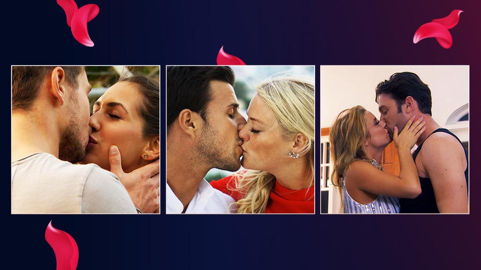 Drum küsse, wer eine Rose verteilen will: In den Bachelor-Staffeln wurde schon viel geknutscht.