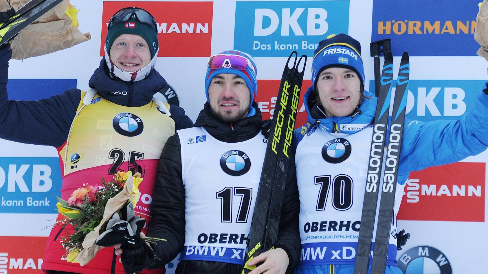 Alexander Loginow feiert in Oberhof seinen ersten Weltcup-Sieg - Freude herrschte darüber aber keine
