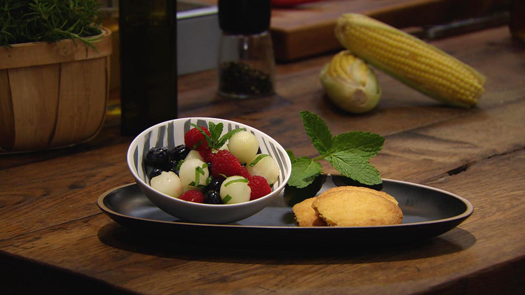 Mach mal Mais!: Polenta-Kekse mit Obstsalat