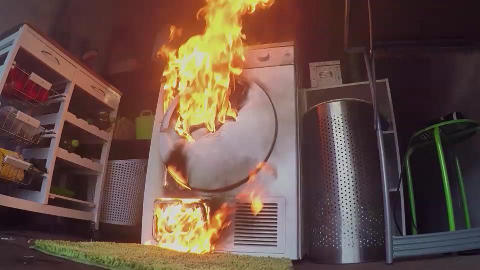 Trockner brennt