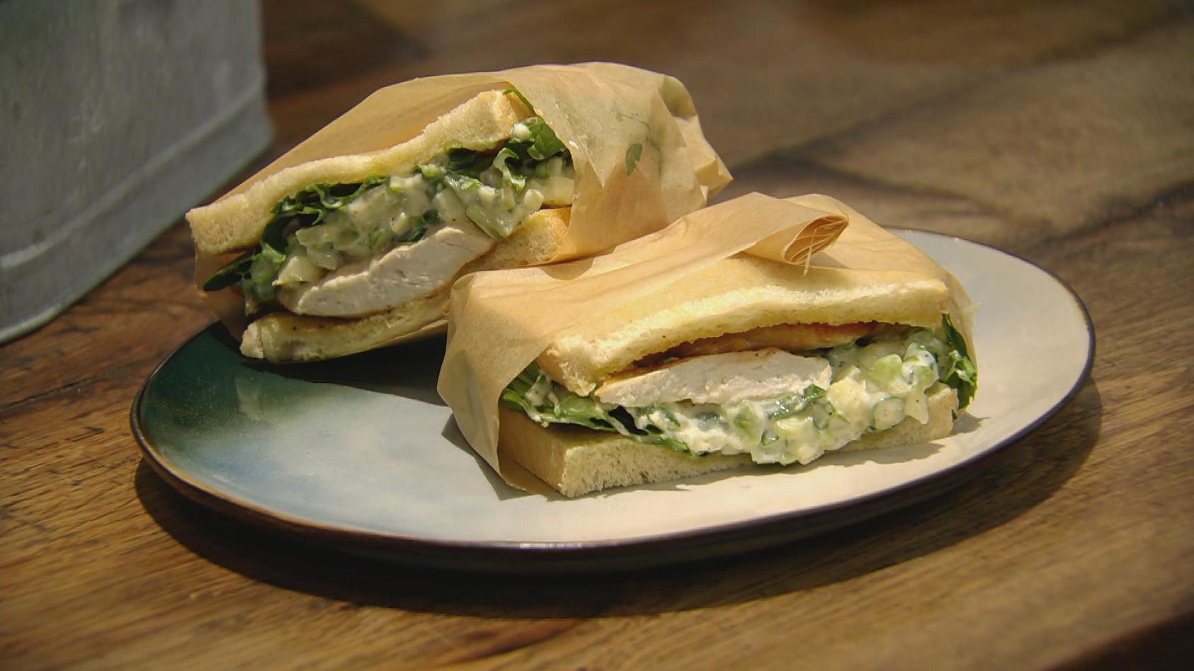 Go West! Essen für Cowboys und Cowgirls: Hähnchen-Sandwich