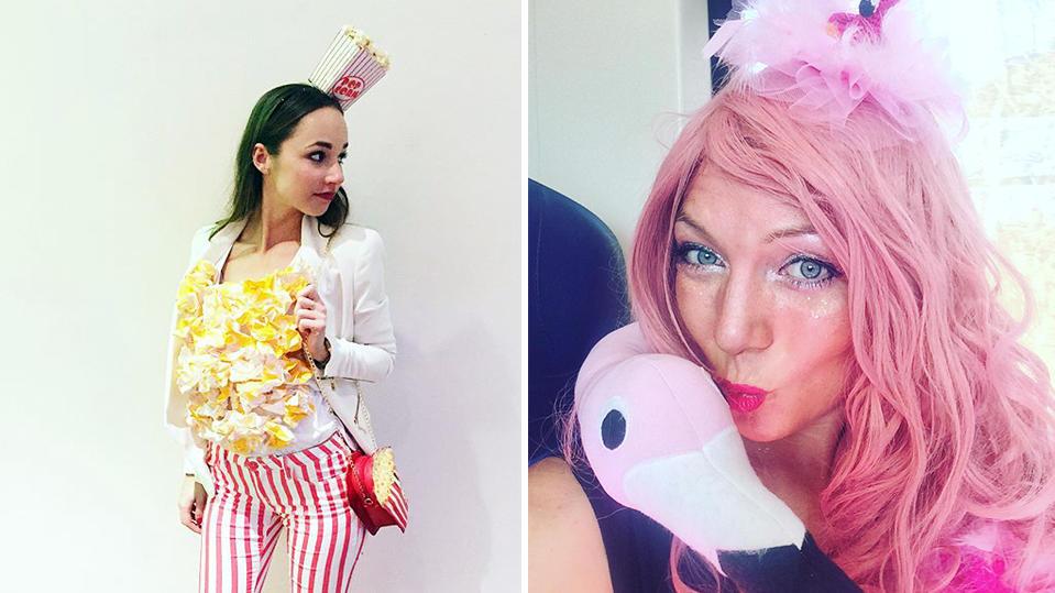 Zuckersüßes Popcorn und pinke Flamingos: Nur zwei der Trendkostüme für Karneval 2019.
