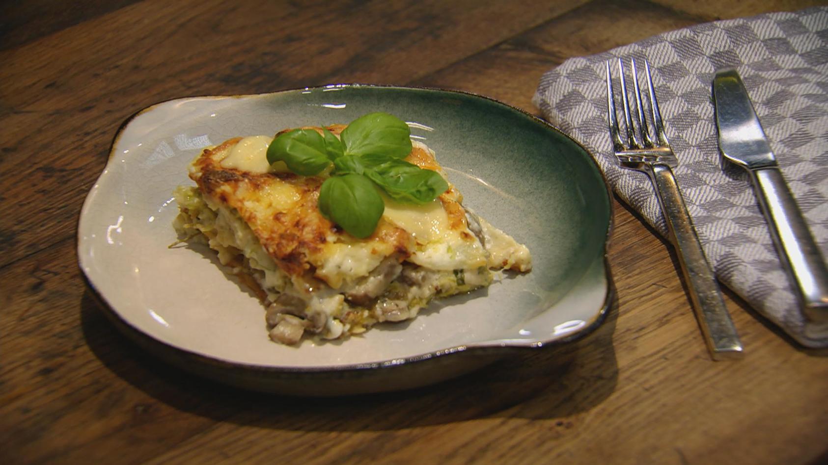 Lust auf Vegetarisch – Gemüse mal anders: Wirsing-Pilz-Lasagne